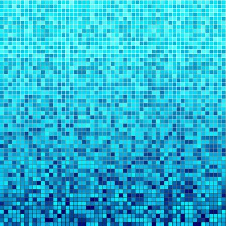 mosaic wall: blue dot background pattern Illustration