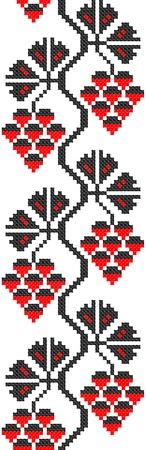 bordados: transparente bordado bien como patr�n de Ucrania �tnico a mano cruz-puntada