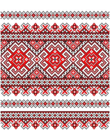 embroidered good like handmade cross-stitch ethnic Ukraine pattern Stock Vector - 8949315