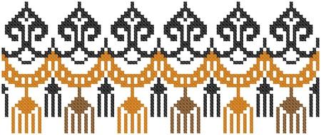 embroidered good like handmade cross-stitch ethnic Ukraine pattern Stock Vector - 8949246