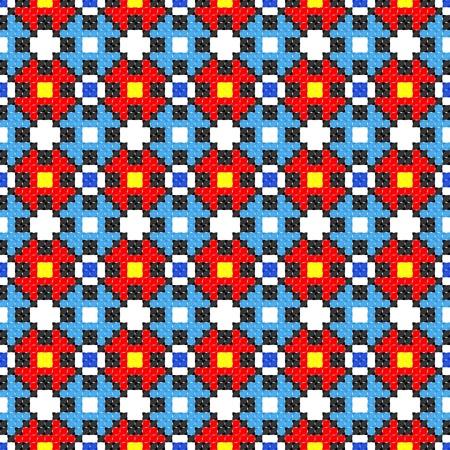 seamless embroidered good like handmade cross-stitch ethnic Ukraine pattern Stock Vector - 8949269