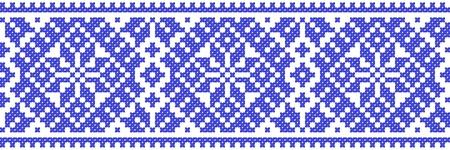 ukraine folk: blue color embroidered good like handmade cross-stitch ethnic Ukraine pattern