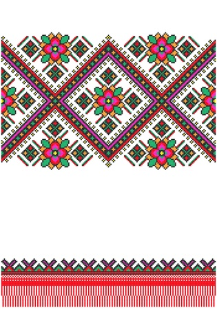 embroidered good like handmade cross-stitch ethnic Ukraine pattern Stock Vector - 8949311