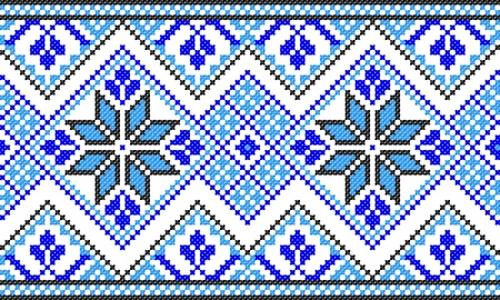 embroidered good like handmade cross-stitch ethnic Ukraine pattern Stock Vector - 8962090