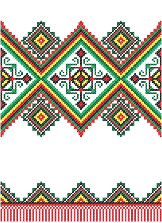 lappet: embroidered good like handmade cross-stitch ethnic Ukraine pattern