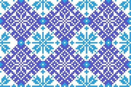 ukraine folk: seamless embroidered good like handmade cross-stitch ethnic Ukraine pattern
