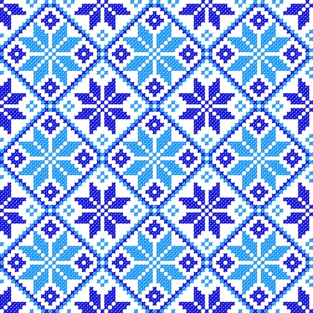 serviette: seamless embroidered good like handmade cross-stitch ethnic Ukraine pattern