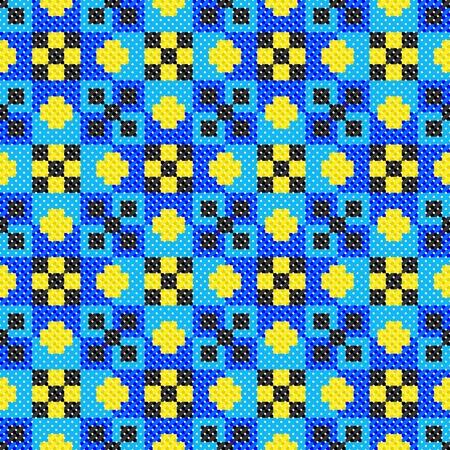 seamless embroidered good like handmade cross-stitch ethnic Ukraine pattern Stock Vector - 8962091