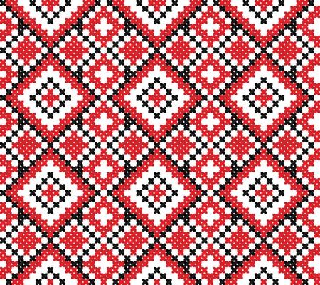 gestickt: nahtlose bestickt gut wie handmade Kreuzstich ethnischen Ukraine Muster