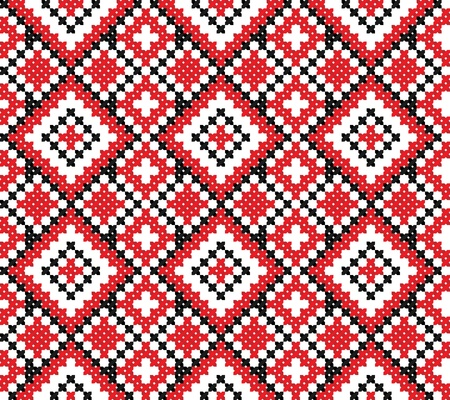 ethnic pattern: seamless embroidered good like handmade cross-stitch ethnic Ukraine pattern