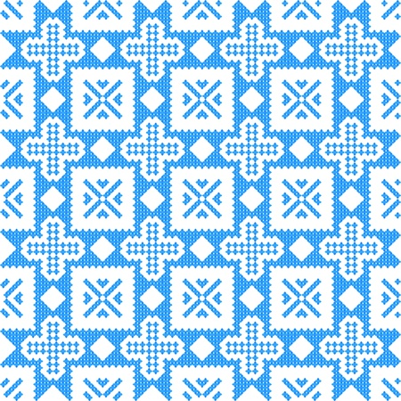 ukraine folk: seamless embroidered good like handmade cross-stitch ethnic Ukraine pattern