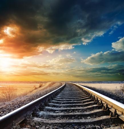 Spoorlijn naar horizon Stockfoto - 9223426