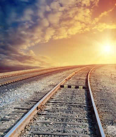 railway to sunny horizon photo