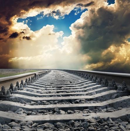 railway to horizon photo