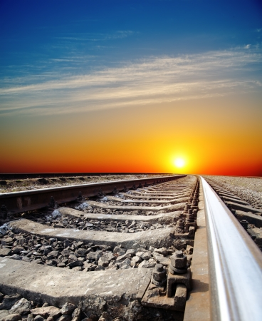 railroad to sunset photo