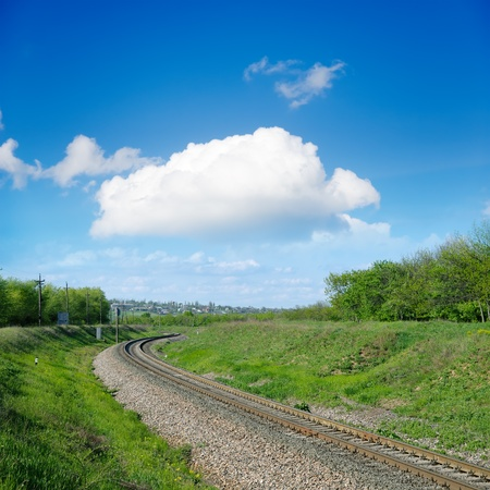 railroad to horizon photo