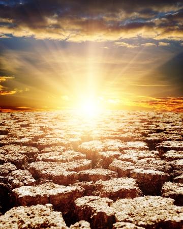 torrid: sunset over desert