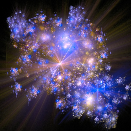 good abstract figure to background. fractal rendered photo