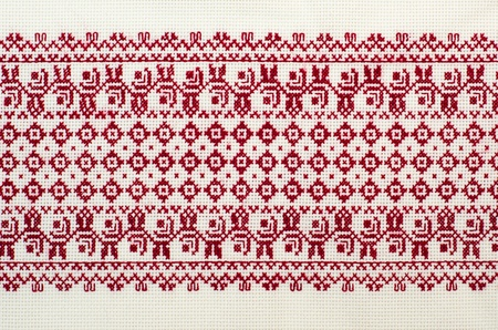 embroidered good by cross-stitch pattern. ukrainian ethnic ornament Stock Photo - 10248383