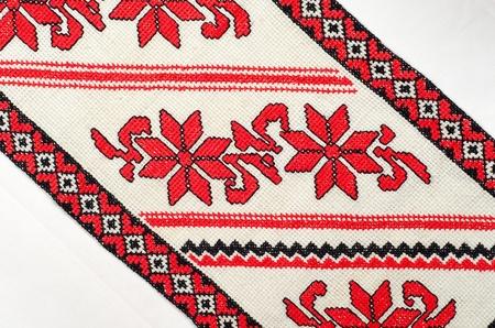 servilleta de papel: bueno bordada por patrón de punto de Cruz. ornamento étnico ucraniano