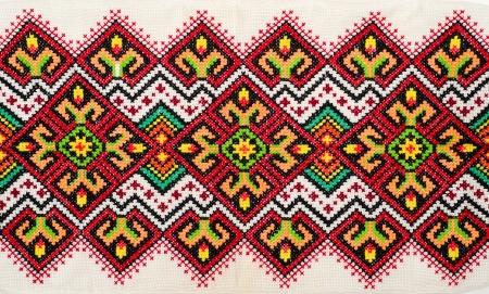 punto cruz: bueno bordada por patr�n de punto de Cruz. ornamento �tnico ucraniano