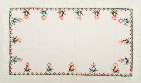 gestickt: Gestickte gut mit Kreuzstich-Muster. ukrainische ethnische verzierung