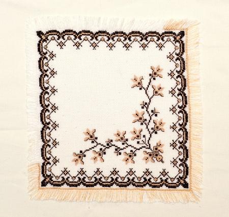 punto cruz: bueno bordada por patrón de punto de Cruz. ornamento étnico ucraniano