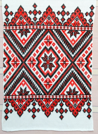 embroidered good by cross-stitch pattern. ukrainian ethnic ornament Stock Photo - 10248378
