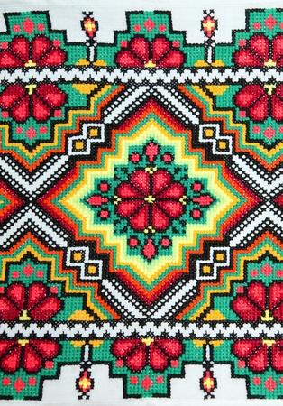 punto de cruz: bueno bordada por patr�n de punto de Cruz. ornamento �tnico ucraniano