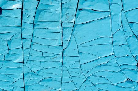 crackle: old blue paint texture closeup
