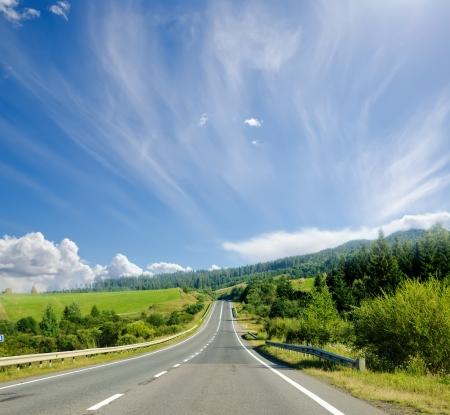 carretera de monta�a. Ucraniano C�rpatos Foto de archivo