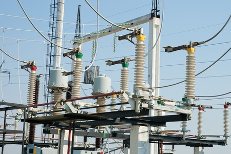 part of high-voltage substation Stock Photo - 10706409