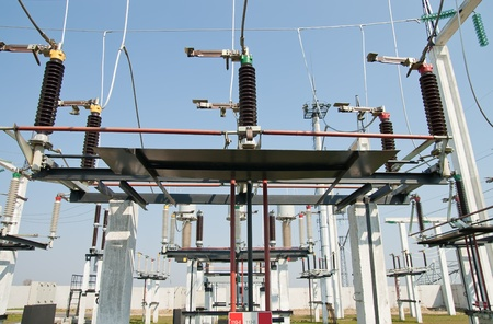 part of high-voltage substation photo