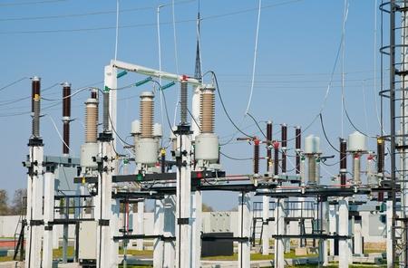 redes electricas: parte de la subestación de alto voltaje