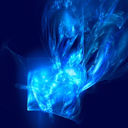 blue flame: abstract figure to background