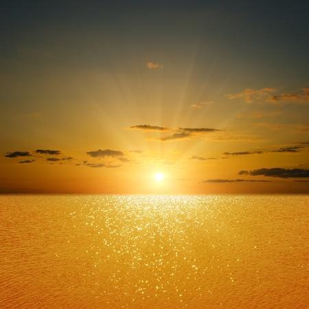 still water: sunset over river