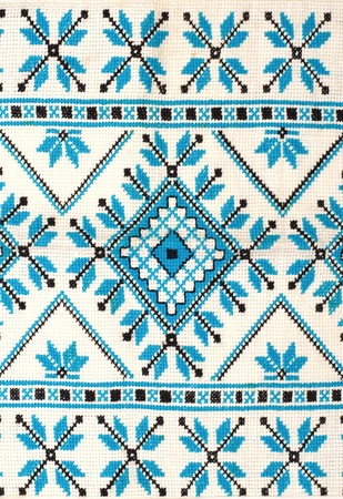 ethnic pattern: embroidered good by cross-stitch pattern. ukrainian ethnic ornament