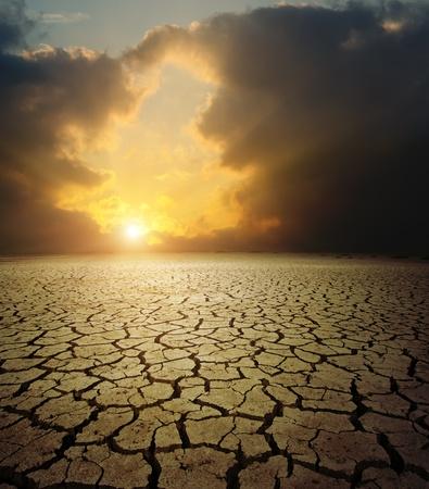 barren: sunset over barren land