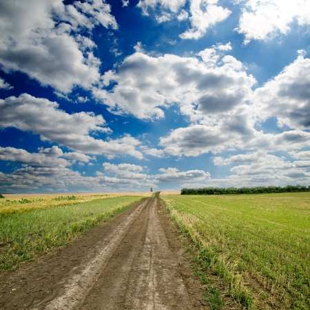 rural road under dramatic sky Stock Photo - 11772981
