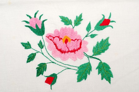 embroider: roses as handicraft embroidery good