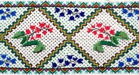 punto cruz: bordado buena forma de cruz-puntada. adornos �tnicos ucraniano