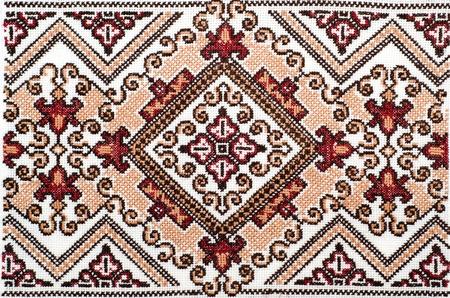 punto cruz: bordado buena forma de cruz-puntada. adornos étnicos ucraniano