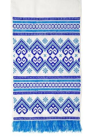 punto cruz: bordado buen punto de cruz patrón de ornamentación étnica ucraniana Foto de archivo