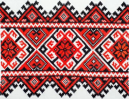 punto cruz: bordado buen punto de cruz patr�n �tnico ornamento ucraniano