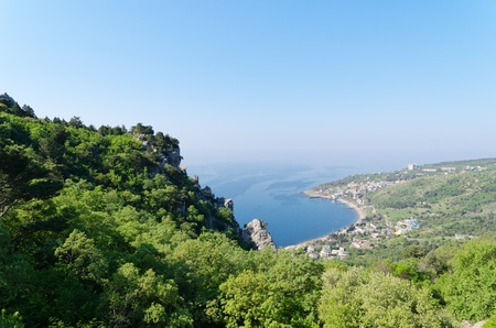 panorama from mountain at Simeiz, Eastern Europe, Ukraine, Crimea photo