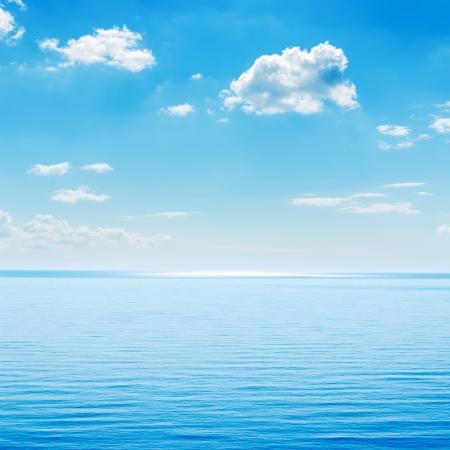 romance sky: blue sea and cloudy sky over it