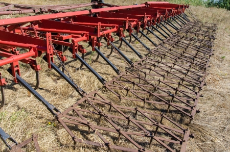 farm implement: agricultural machine on field