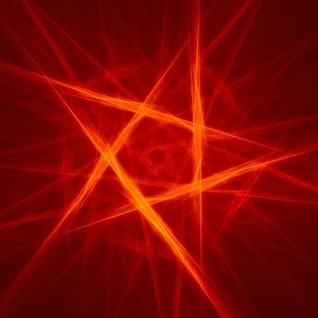 abstract pentagon background on dark  fractal rendered photo