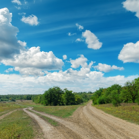 two way: two rural road to horizon under cloudy sky