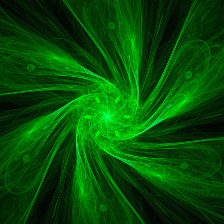 green swirl: good abstract figure to background. fractal rendered